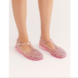 Jeffrey Campbell Pink Time Travel Jelly Sandals
